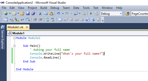 visual basic comments